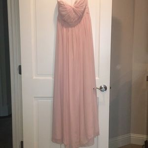 Jenny yoo size for blush strapless gown
